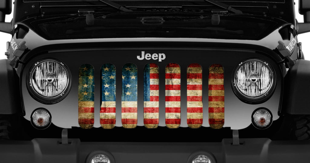 """American Victory"" Grille Insert by Dirty Acres ('76 - '18 Wrangler CJ, YJ, TJ, JK, JKU) - Jeep World"