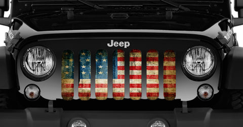 """American Victory"" Grille Insert by Dirty Acres ('76 - '19 Wrangler CJ, YJ, TJ, JK, JL)"