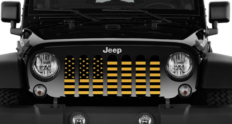"""USA Ampd"" Grille Insert by Dirty Acres ('76 - '18 Wrangler CJ, YJ, TJ, JK, JKU) - Jeep World"