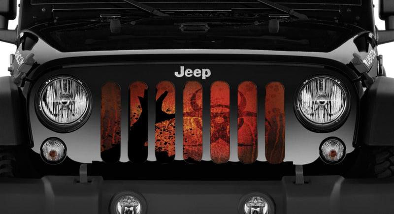 """Apocalypse"" Grille Insert From Dirty Acres ('76-'18 Wrangler YJ, CJ, TJ, JK, JKU) - Jeep World"