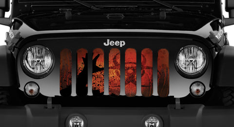"""Apocalypse"" Grille Insert From Dirty Acres ('76 - '19 Wrangler CJ, YJ, TJ, JK, JL, '20 Gladiator JT)"