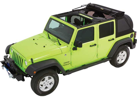 Black Twill Trektop NX Glide Convertible Soft Top by Bestop ('07-'18 Wrangler JKU)