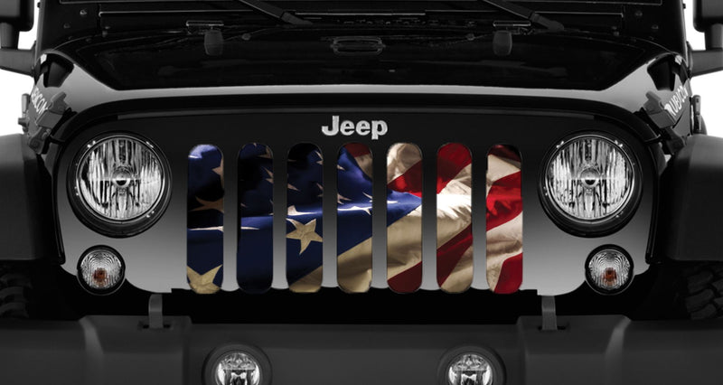 """Battle Ready"" Grille Insert by Dirty Acres ('76 - '18 Wrangler CJ, YJ, TJ, JK, JKU) - Jeep World"