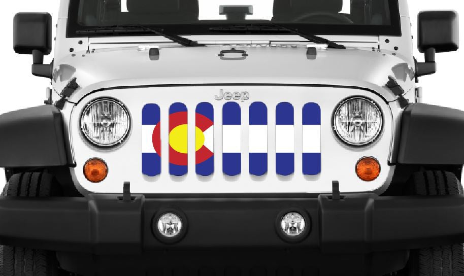 Colorado State Flag Jeep Wrangler Grill Insert