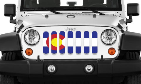 """Colorado State Flag"" Grille Insert By Dirty Acres ('76-'20 Wrangler CJ, YJ, TJ, JK, JL and '20 Gladiator JT)"