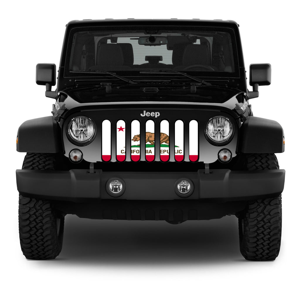 """California Republic"" Grille Insert by Dirty Acres ('76 - '18 Wrangler CJ, YJ, TJ, LJ, JK & JKU) - Jeep World"