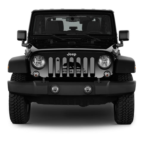 """Tactical California Republic"" Grille Insert by Dirty Acres (Wrangler, Gladiator, Renegade, G.Cherokee)"