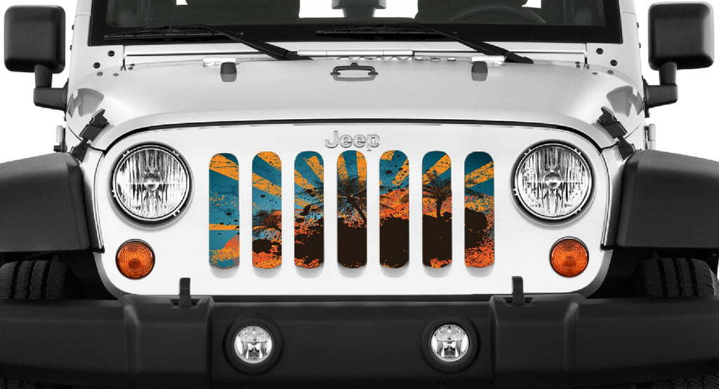 """Cali"" Grille Insert by Dirty Acres ('76 - '18 Wrangler CJ, YJ,TJ, JK, JKU) - Jeep World"