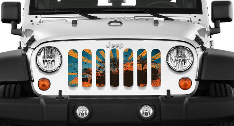 """Cali"" Grille Insert by Dirty Acres (Wrangler, Gladiator, Renegade, G.Cherokee)"