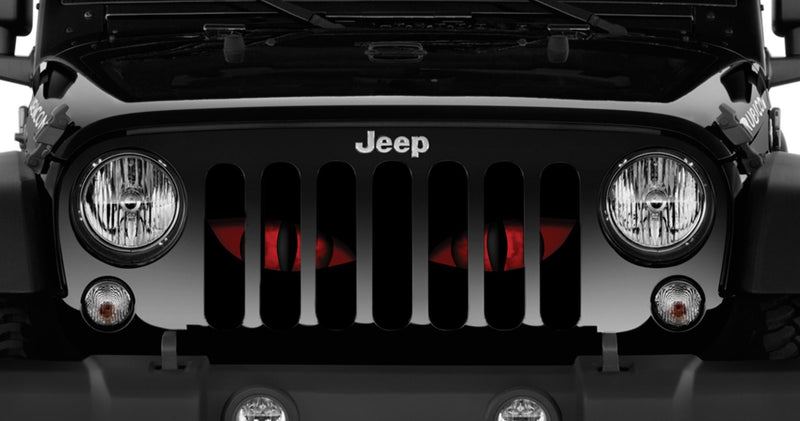 """Chaos Eyes"" Grille Insert From Dirty Acres ('76-'18 Wrangler YJ, CJ, TJ, JK, JKU) - Jeep World"