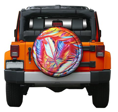 Colortek Rigid™ Tropical Metallic Tire Cover (Liberty KJ, Wrangler CJ, YJ, TJ, & JK)