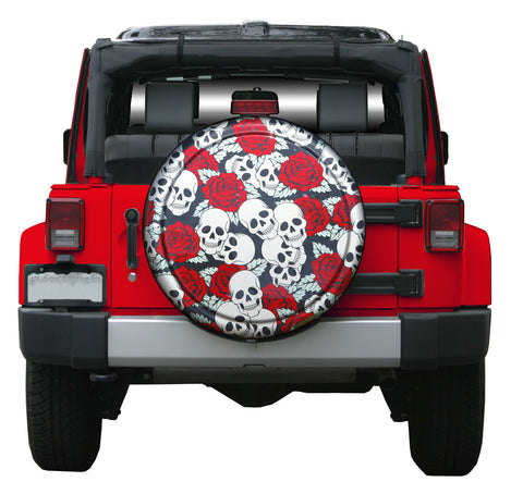 Colortek Rigid™ Skulls & Roses Tire Cover (Liberty KJ, Wrangler CJ, YJ, TJ, & JK)