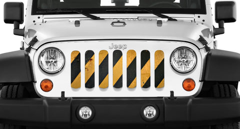 """Cross Walk"" Grille Insert by Dirty Acres (Wrangler, Gladiator, Renegade, G.Cherokee)"