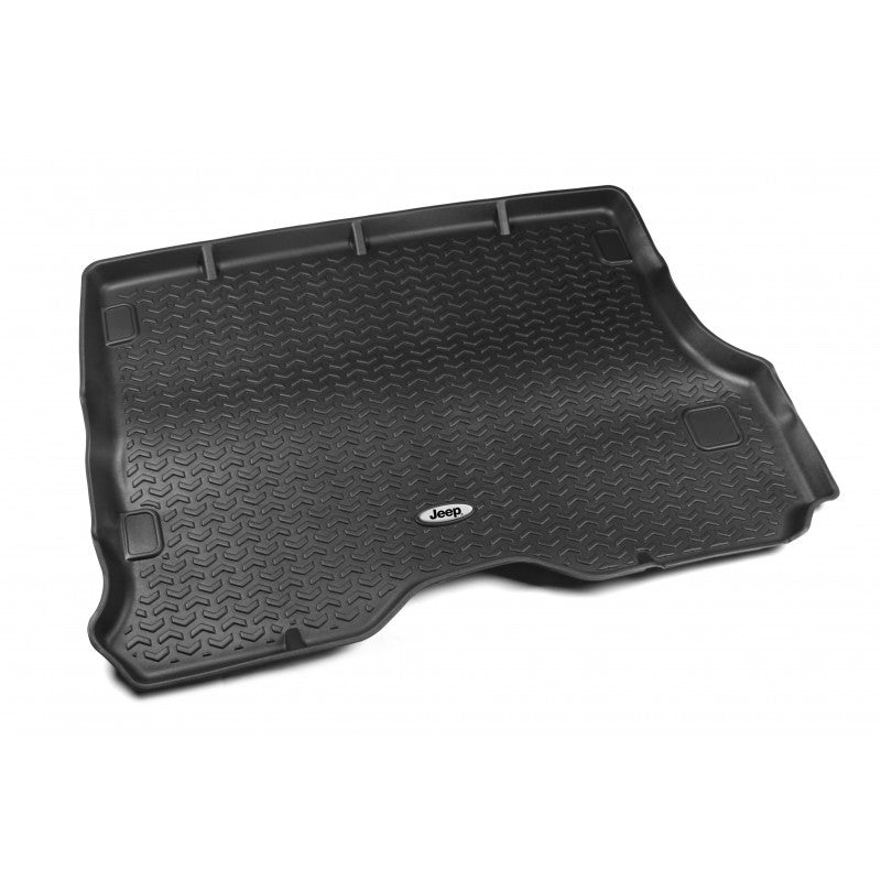 Cargo Liner, Black, Jeep Logo by Rugged Ridge ('84-'01 Jeep Cherokee XJ) - Jeep World