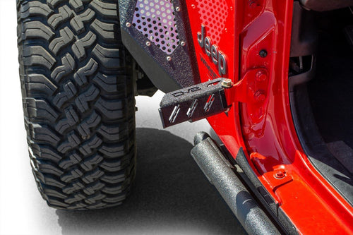 Hinge Mounted Foot Pegs -Set of 2 by DV8 Offroad (07-18 Wrangler JK, 18+ Wrangler JL)