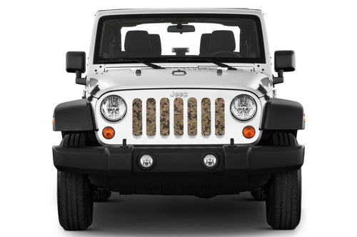 Wrangler with camo grill insert