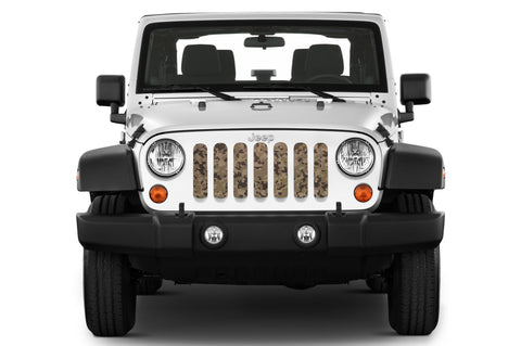 """Tan Digital Camo"" Grille Insert by Dirty Acres (Wrangler, Gladiator)"