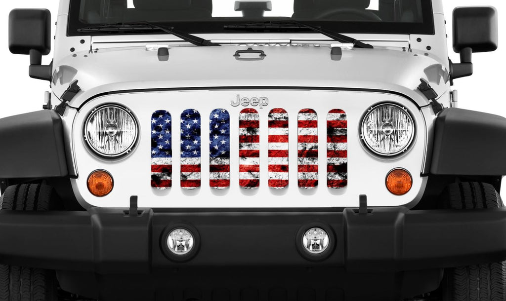 """Dirty Grace"" Grille Insert by Dirty Acres ('76 - '18 Wrangler CJ, YJ, TJ, JK, JKU) - Jeep World"