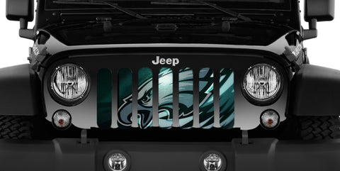 Philly Eagles Custom Grille Insert by Dirty Acres ('76 - '19 Wrangler CJ, YJ, TJ, JK, JL, '20 Gladiator JT)