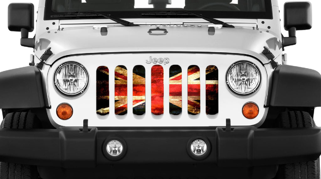 """English Rock"" Grille Insert by Dirty Acres ('76 - '18 Wrangler CJ, YJ TJ, JK, JKU) - Jeep World"