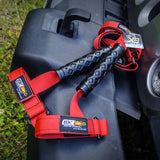 Jeep grab handle, black and red