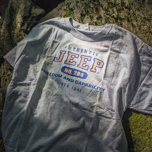 "Jeep Authentic T-Shirt ""Freedom and Capability"" - Jeep World"