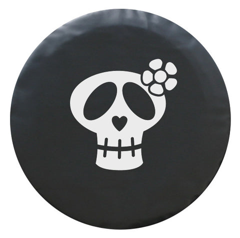 Colortek™ Girly Skull White or Pink Soft Tire Cover