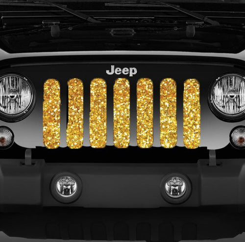 """Gold Glitter"" Grille Insert by Dirty Acres"