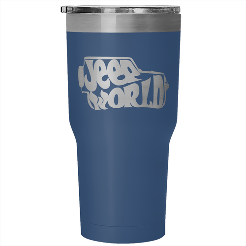Jeep World insulated tumbler - blue