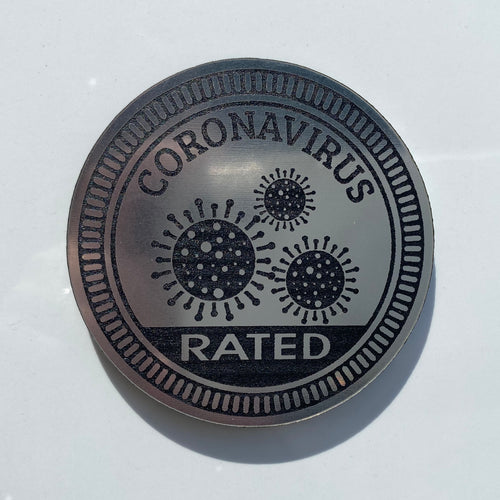 Coronavirus Rated Trail Badge by Dirty Acres (Universal)