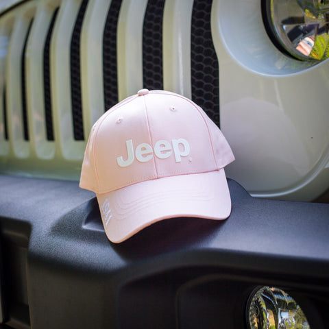 Pink & White Ladies' Hat by Jeep