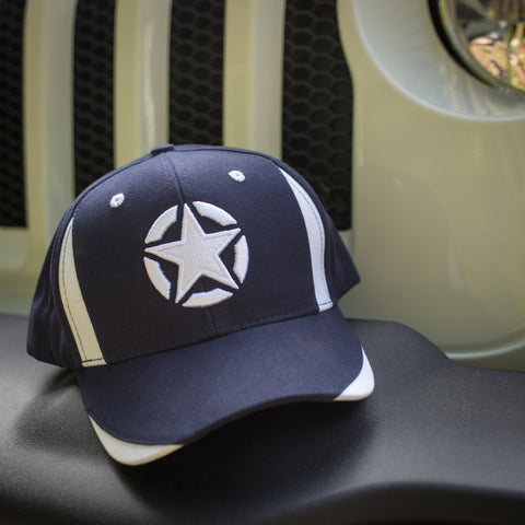 Navy & White Star Cap by Jeep
