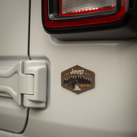 Jeep Camping Embossed Metal Magnet by Open Roads Brands