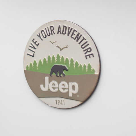 Live Your Adventure Embossed Metal Magnet by Open Roads Brands
