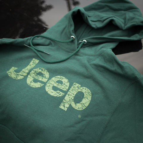 Unisex Forest Green Jeep Hoodie