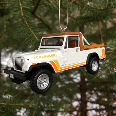 Retro Jeep Scrambler Christmas Ornament by Jeep