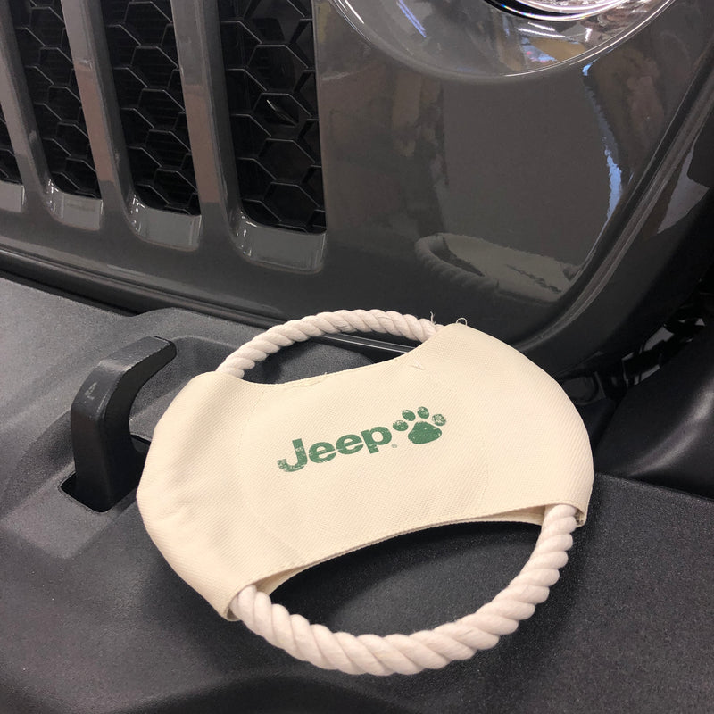 Canvas & Rope Dog Frisbee by Jeep