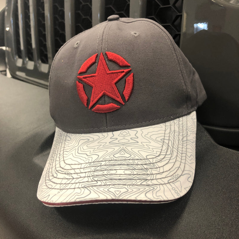 Topographic Star Hat by Jeep