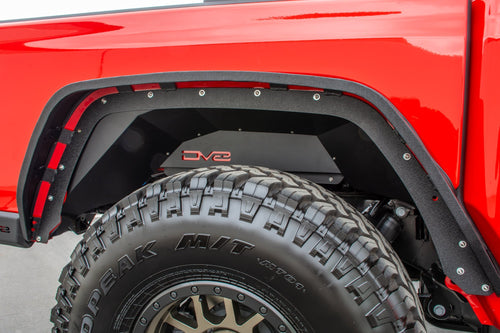 Rear Inner Fenders Black by DV8 Offroad (20+ Gladiator JT)