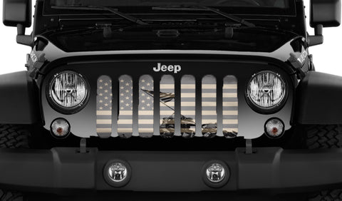"""Iwo Jima"" Grille Insert by Dirty Acres ('76 - '19 Wrangler CJ, YJ, TJ, JL & JLU)"
