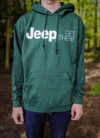 Jeep® Get There Hoodie Sweatshirt, Forest Green
