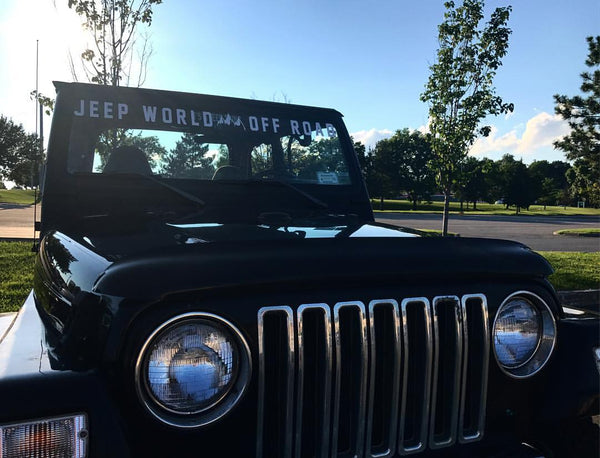 ... Jeep World Off Road Windshield Banner