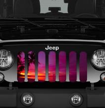 """Just Beachy"" Grille Insert by Dirty Acres (Wrangler, Gladiator, Renegade, G.Cherokee)"