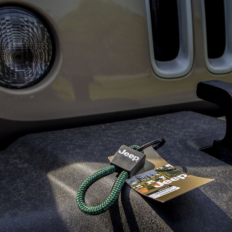 Jeep Key Chain, Retainer in Green - Jeep World