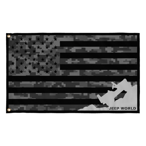 Jeep World USA Tactical Jeep Flag