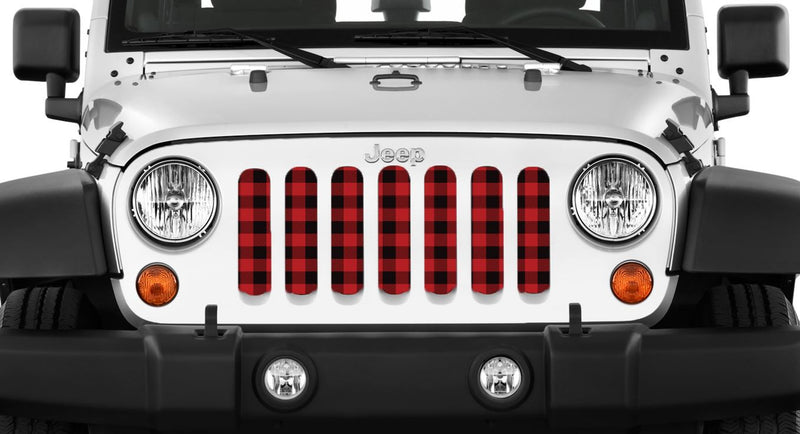 """LumberJack"" Grille Insert by Dirty Acres ('76 - '18 Wrangler CJ, YJ, TJ, JK, JKU) - Jeep World"
