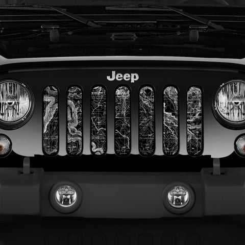 Map Of Moab Grille Insert by Dirty Acres ('76 - '19 Wrangler CJ, YJ, TJ, JK, JL)