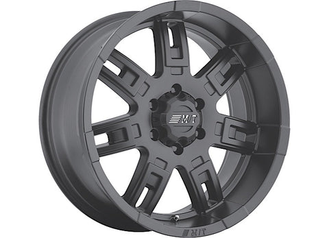 Sidebiter II Wheel, 5x5 Bolt Pattern, 18x9, Black by Mickey Thompson ('07-'18 Wrangler JK)-MTT90000019389