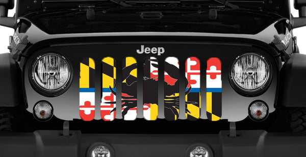 Quot Maryland Crab Flag Back The Blue Quot Jeep Grille Insert Jeep World