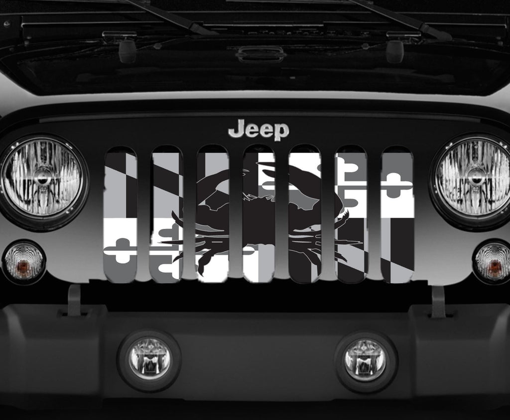 """Tactical Maryland Crab Flag"" Jeep Grille Insert By Dirty Acres ('76-'18 Wrangler CJ, YJ, TJ, JK, JKU) - Jeep World"